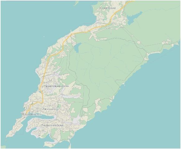 Карта районов Владивостока