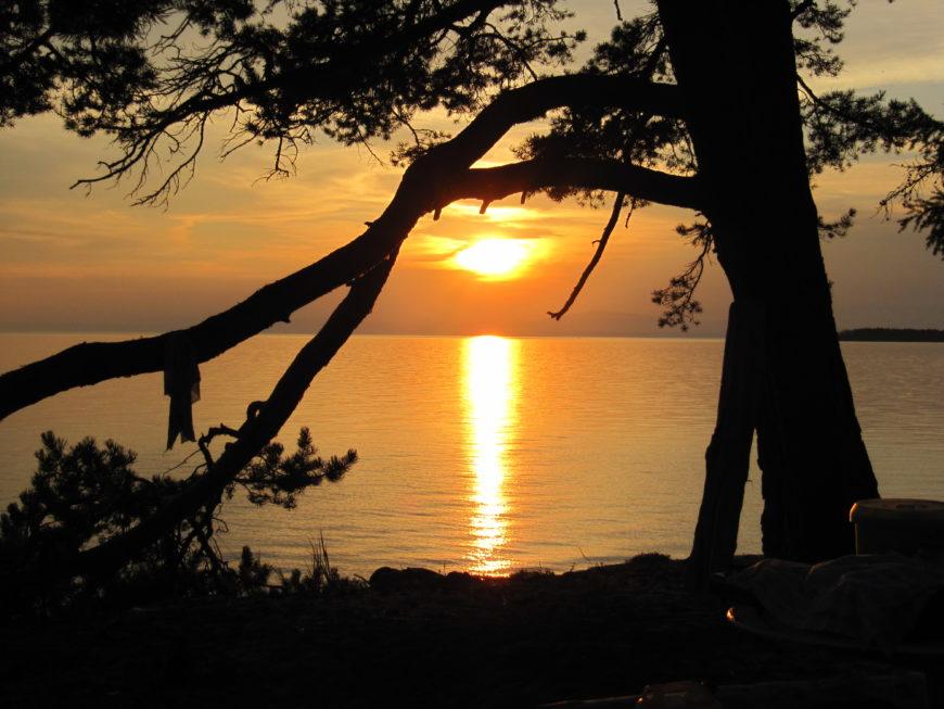 Байкал на закате. Август. Нега