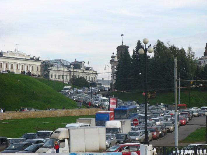 Пробка в центре Казани