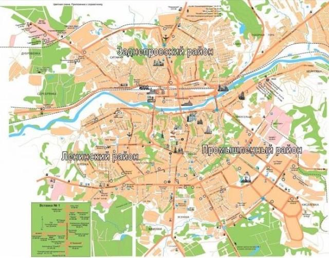 Карта Смоленска