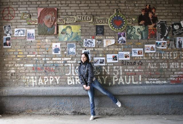 Аллея Леннона в Новосибирске