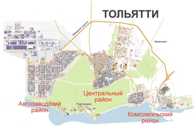 Карта Тольятти