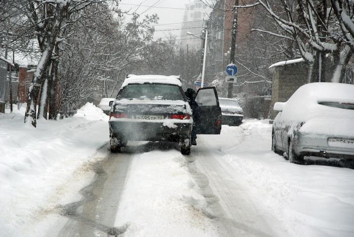 Краснодар. Транспорт зимой