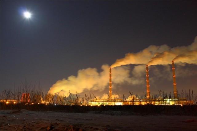 Набержные Челны. Дым от ТЭЦ