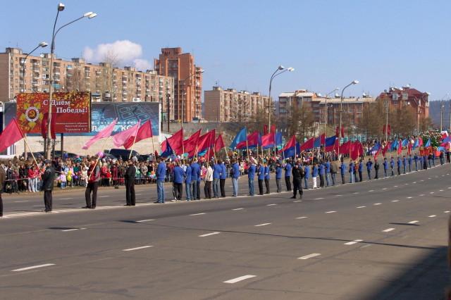День Победы в Братске