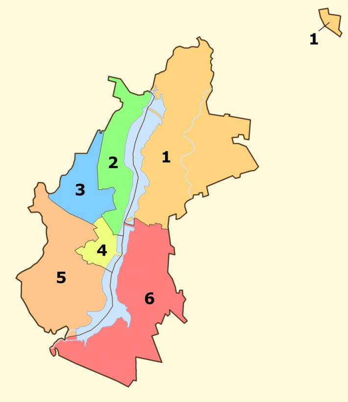 Карта районов Воронежа