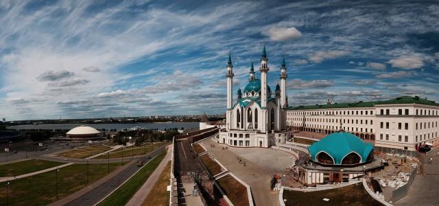 Мечеть Кул-Шариф, построенная на территории кремля по аналогии с главной мечетью Казанского ханства