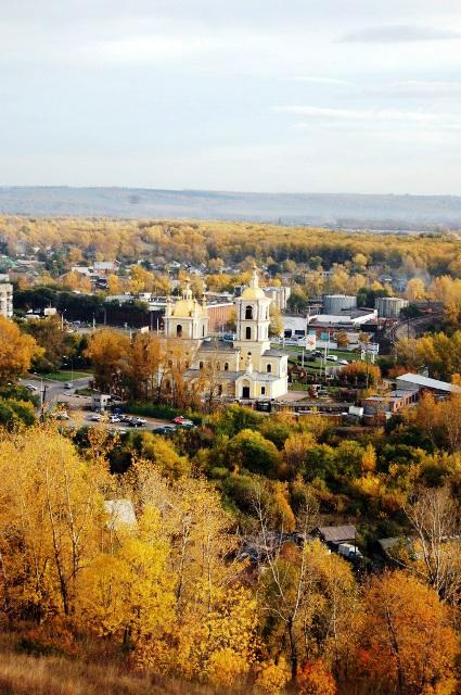 Кузнецкий район. Спасо-Преображенский собор. Вид с крепостного вала