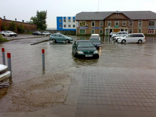 После ливня в Иркутске