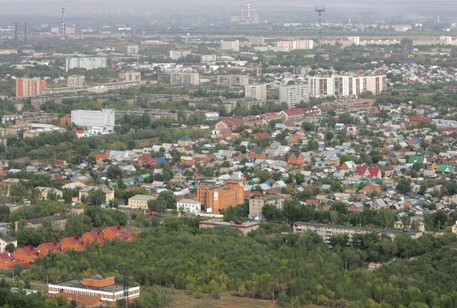 Оренбург. Вид сверху