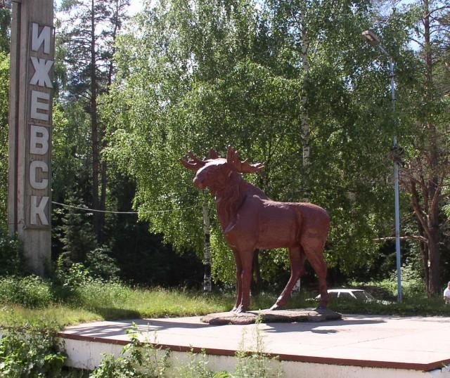 Скульптура лося