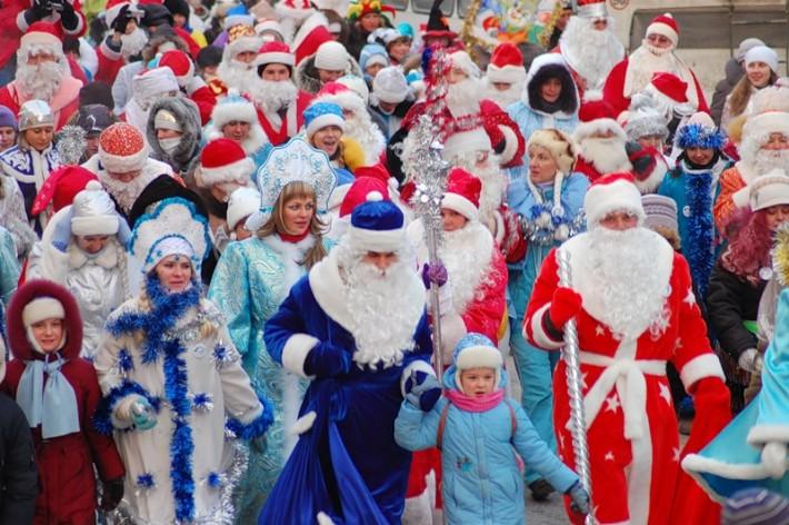 Парад новогодних героев в Томске