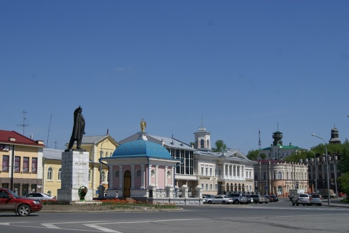 Площадь Ленина в Томске