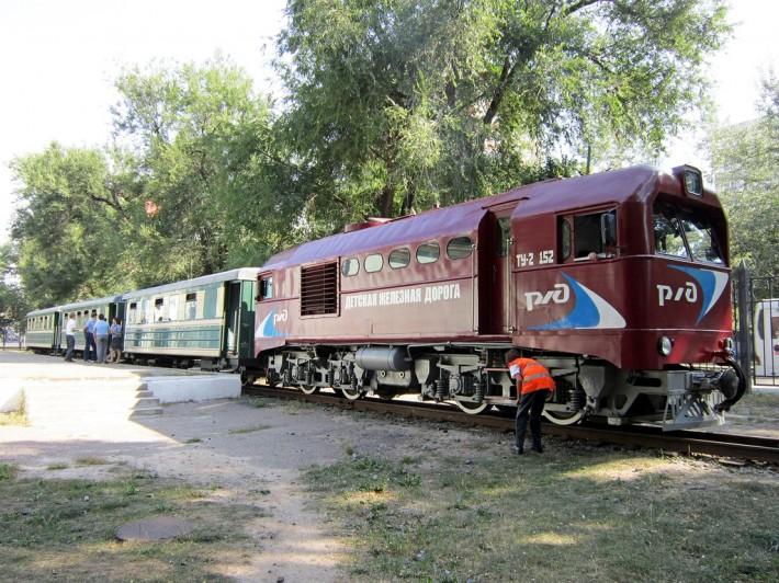 Поезд ростовской детской железной дороги