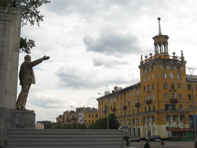 Сталинки в центре Прокопьевска