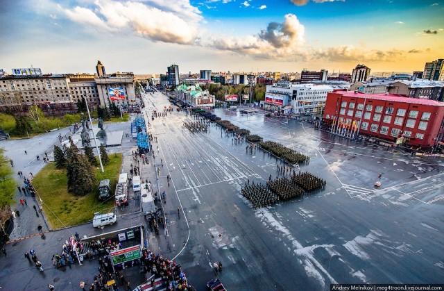 Репетиция парада Победы в Новосибирске