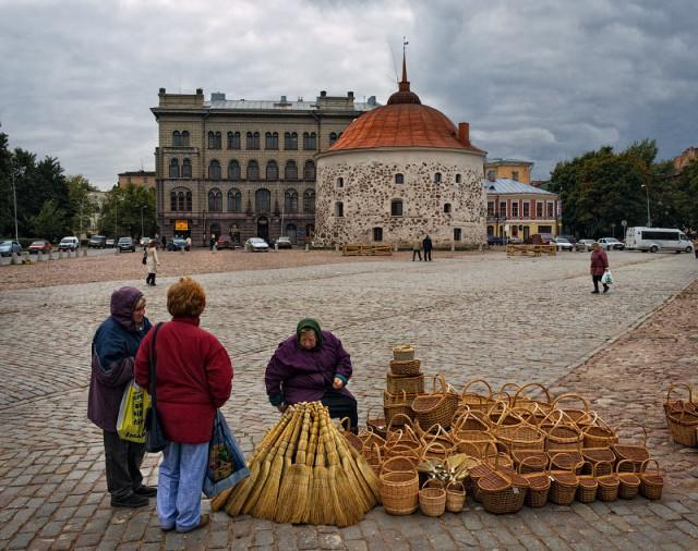 Рыночная площадь в Выборге