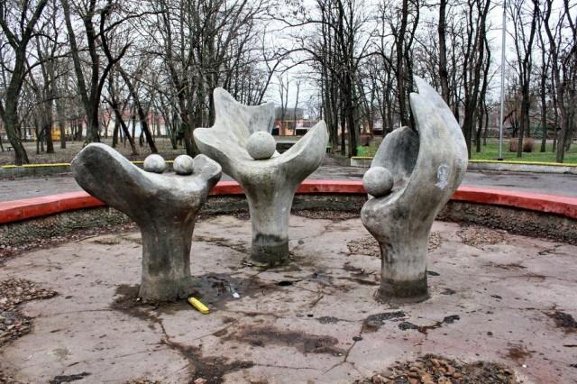 Скульптуры в парке Юность