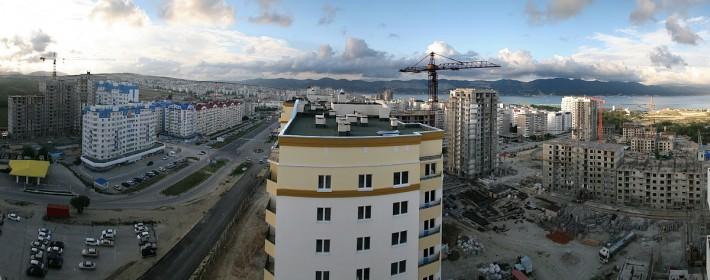 Стройка в 15 микрорайоне Новороссийска