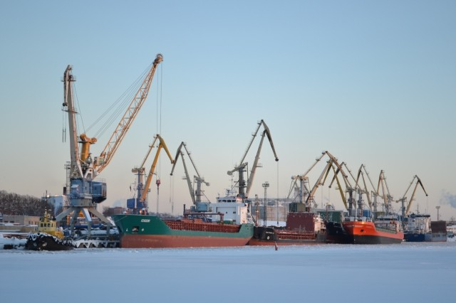 Торговый порт в Выборге