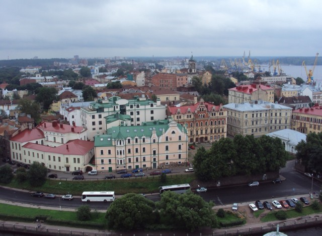 Вид на Выборг с башни святого Олафа