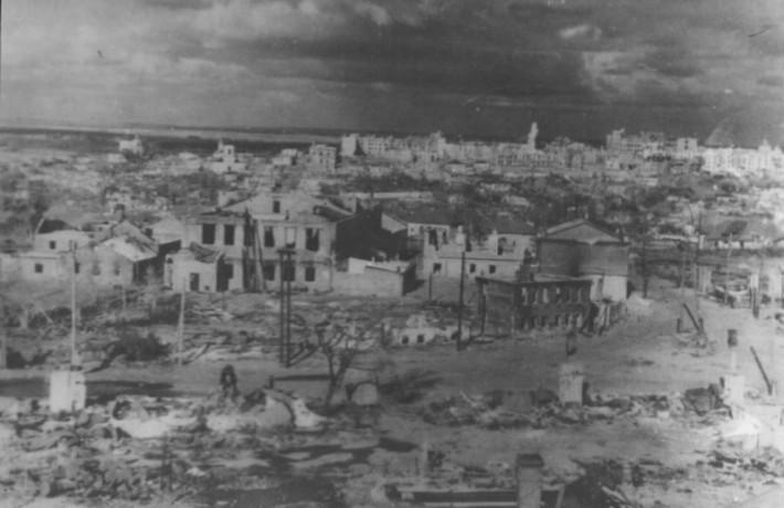 Город после освобождения