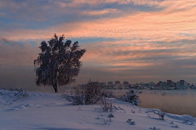 Зима на Ангаре