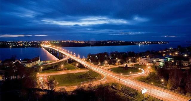 Кострома. Мост через Волгу
