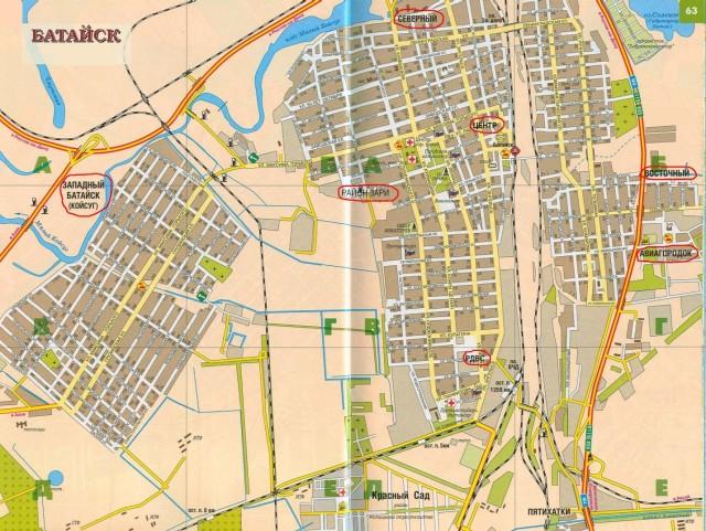 Карта Батайска