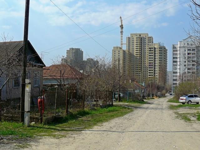 Частный сектор города Волгограда