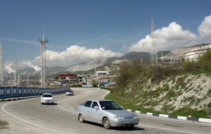 Одна из дорог Новороссийска