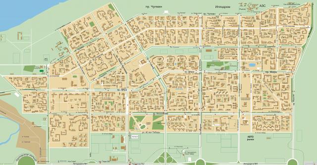 Карта Набережных Челнов