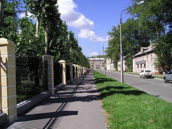 Вид на одну из улиц Индустриального района