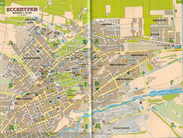Карта Ессентуков