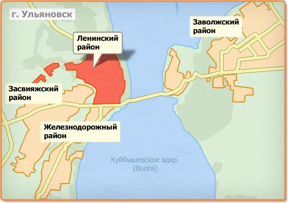Карта районов Ульяновска