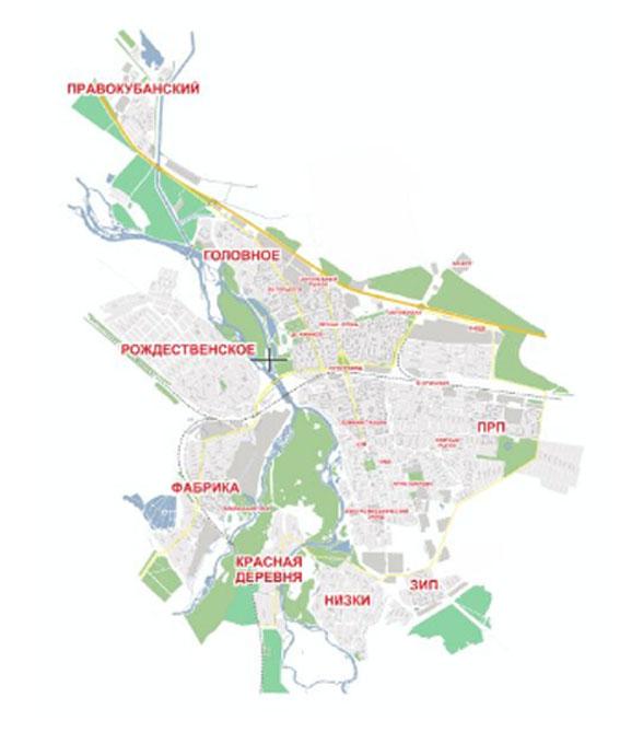 Карта Невинномысска