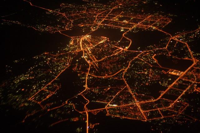 Ночная Казань - вид сверху