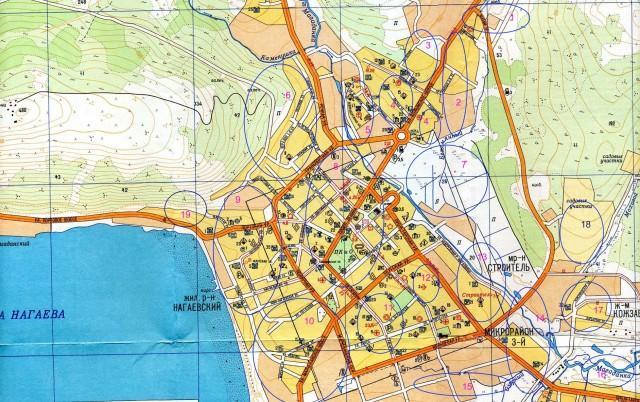 Карта районов Магадана