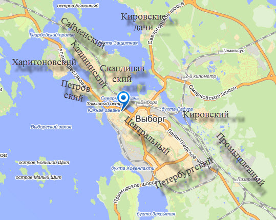 Карта Выборга