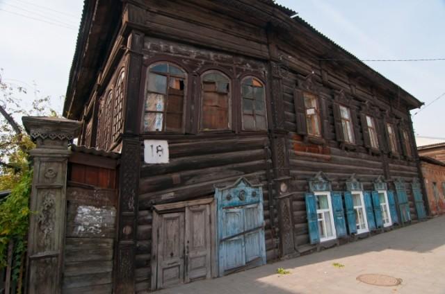 Один из старых домов в центре города