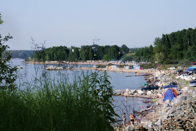 Один из пляжей в Бердске