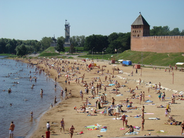 Пляж в Великом Новгороде
