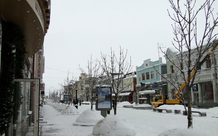 Самара. Пешеходная улица Ленинградская зимой