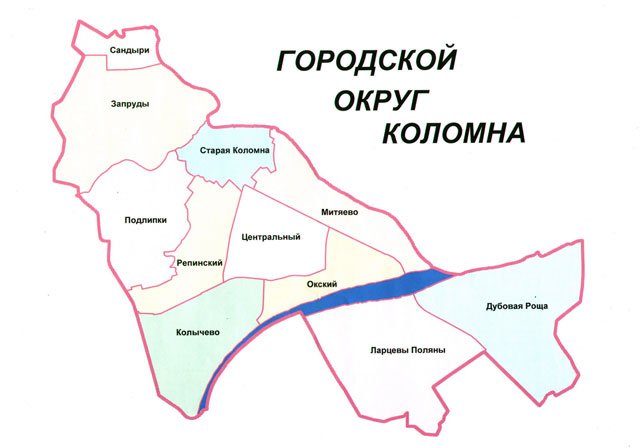Карта Коломны