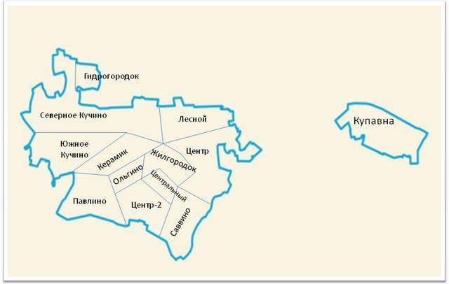 Карта Железнодорожного