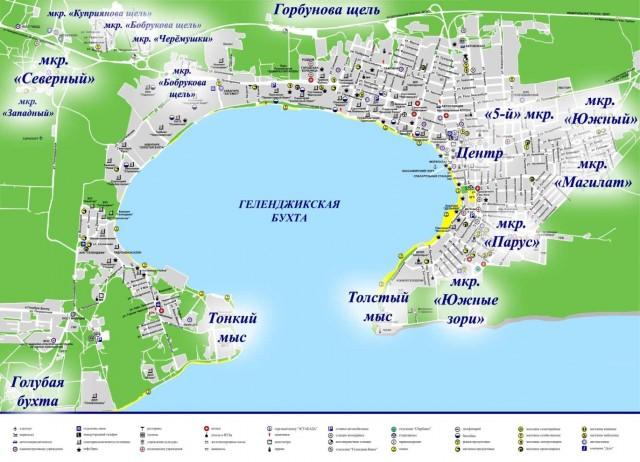 Карта Геленджика
