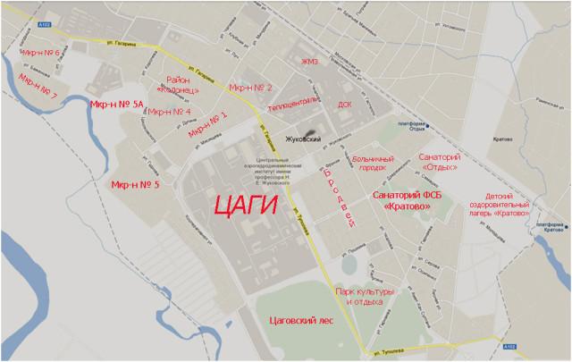 Карта Жуковского
