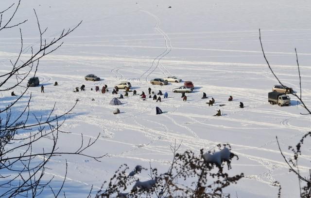 Зимняя рыбалка в Бердске