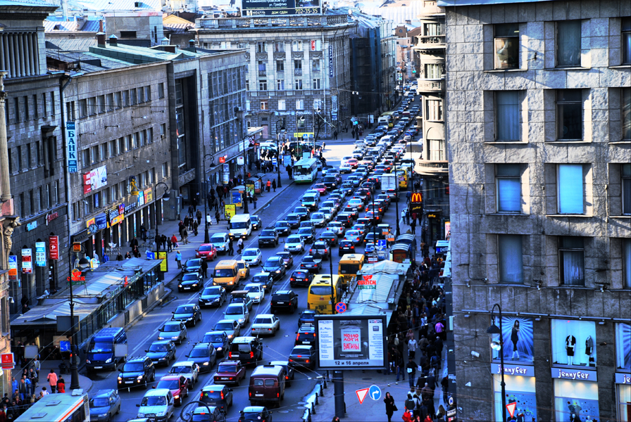 Пробки на Петроградке
