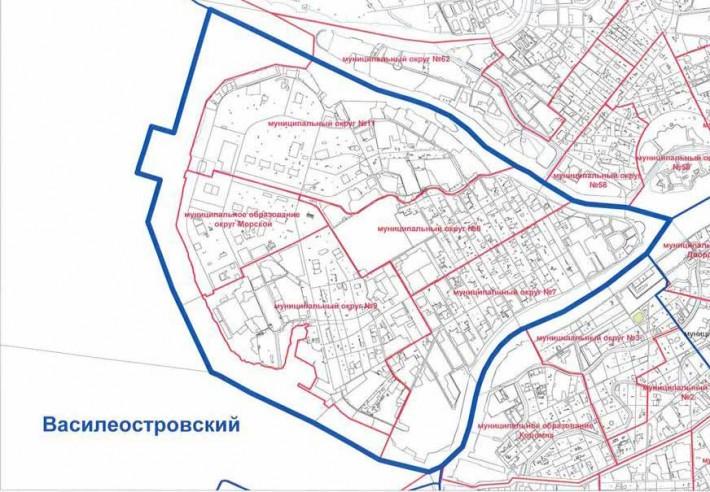 Карта Василеостровского района